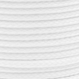 1 meter sieradenkoord c.a. 5 x 3mm kleur White