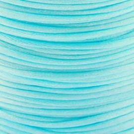 2 meter Macrame Satijndraad 1.0 mm Light Sea Blue