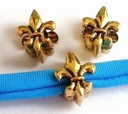 Per stuk European Jewelry bedel kraal franse lelie goud metaal 11 mm