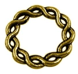 5 x gesloten tussenzetsel ring 20,5 x 2mm gat: 13mm goud