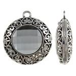 Prachtige Tibetaans zilveren hanger voor bijvoorbeeld een sjaal of ketting 2,5 x 60,5 x 20mm Gat: 5,5mm