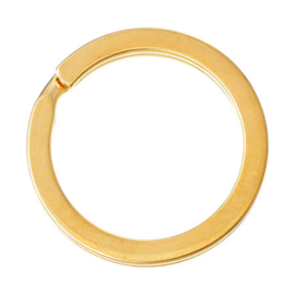 2 x Metalen Sleutelhanger Ring 25 mm Goud