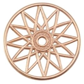 DQ metalen dreamcatcher hanger Rosé goud (nikkelvrij)