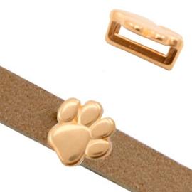 1 x Schuiver DQ metaal hondenpoot Ø10.2x2.2mm Rosé goud (nikkelvrij)