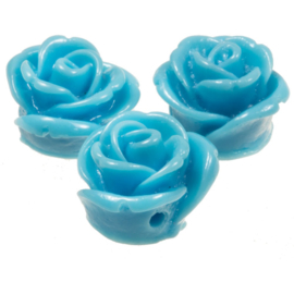 1 x   Acryl Roses (Baby Blue) 11 mm