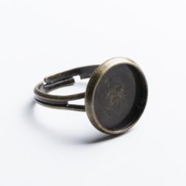 2x Verstelbare basis ring 17~19mm tray: 12mm geel koper kleur