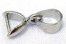 3 messing bails hanger met een laagje platinum, verbinder, bails 11mm gat 3mm