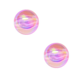 50 x Kinderkralen Acryl AB Glans Roze 6 mm