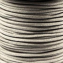 2 meter Leer Imitatie Suède Silk Grey