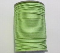 3 meter waxkoord 2mm lime