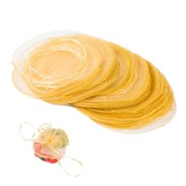 1 ronde organza zakje geel effen, Ø 24 cm