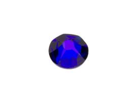 10 x Swarovski donkerblauw plat strass steentje 5mm