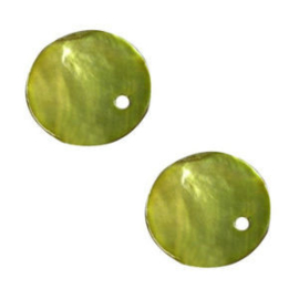 20 x Parelmoer Hangers Lime