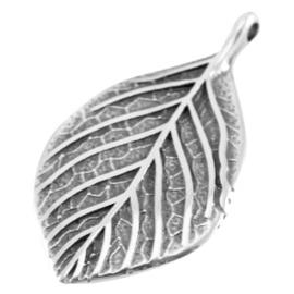Per stuk DQ metaal bedel blad Antiek zilver (nikkelvrij)