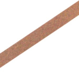 17 cm DQ leer plat 5mm Rust brown