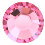 10 x Swarovski pink plat strass steentje 5mm