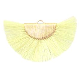 Kwastjes hanger Gold-light yellow