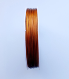 Rol rijgdraad met coating koper bruin kleur 0,35 mm x 50 meter