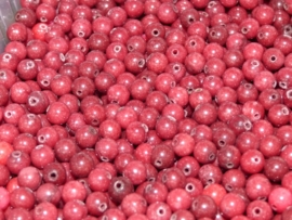 10 kraal van rode agaat 6mm