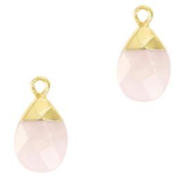 1 x Natuursteen hangers Icy pink-gold Light Amethyst
