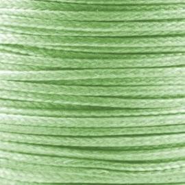 2 meter Waxkoord 1.0 mm Jadegreen