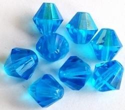 10 x kristal Facet konisch Saphire AB 12 mm