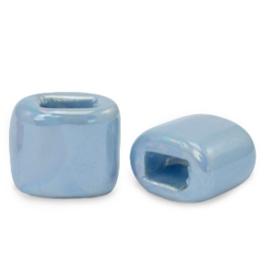 1 x C.U.S sieraden schuiver DQ Grieks keramiek 11x12mm Dusk blue