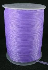 2 meter organza lint 6mm lila