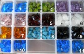 2 x Schitterende grote glaskraal geslepen, kies uit verschillende kleuren