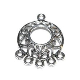 2x  ornament Antiek Zilver 23 x20 mm