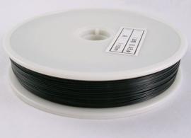Rijgdraad met coating 0,45 mm x 100 meter zwart