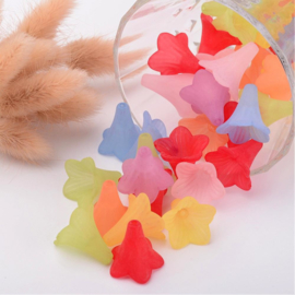 10 x prachtige assortiment acryl bloem kelk mix 23 x 21 gat: 1,5mm