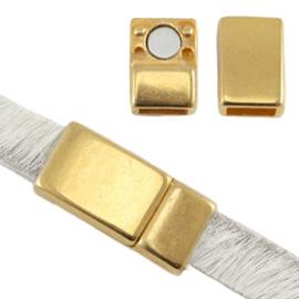 DQ metaal magneetslot voor 5 / 6 mm plat leer Goud