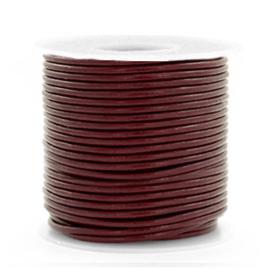 50cm  DQ Leer rond 1 mm Mahogany brown