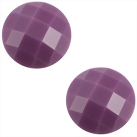 2 x Basic cabochon 10mm Deep violet purple