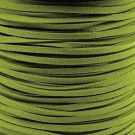 2 meter Imitatie Suède Light Olive Green