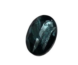 2x Precosia punt kristal Ovaal 13,5 mm Licht Blauw