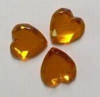 4x Plaksteen acryl-hart oranje 18 mm