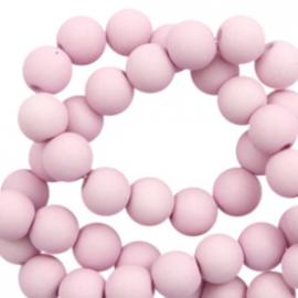 30 x 6 mm acryl kralen matt Lavender pink