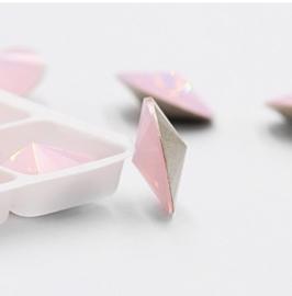 5 x Puntsteen  Rivoli  Preciosa SS39  8 mm opal roze
