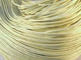 Waxkoord 10 meter 1mm creme - ivoor structuur B