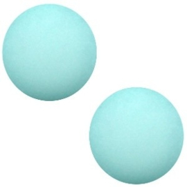 1x Cabochon Polaris Elements matt 7mm Light turquoise