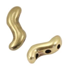 1 stuks DQ metaal spacer/verdeler voor macramé draad twist Antiek brons (nikkelvrij)