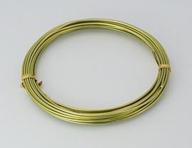 Aluminium draad 1,5mm dik, 6m/rol Light Lime