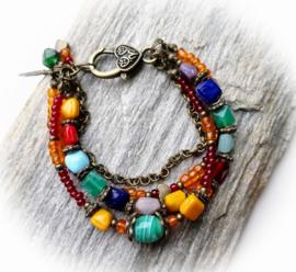 Kleurrijke bohemian armband ♥