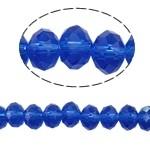 10 x Briolette kraal 8x6 mm gat 1,5mm blauw