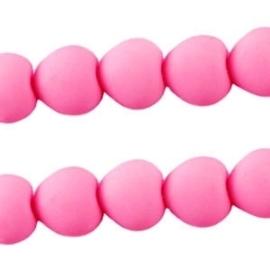 10 stuks Acryl kralen hart 10mm roze