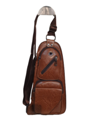 Unisex Crossbody bag light brown