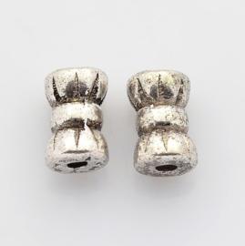 20 stuks Tibetaans zilveren tussenzetsel kraal 4 x 6mm gat: 1mm