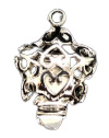 1 x Tibetaans zilveren box sluiting ster 14,5 mm x 11,5 mm oogje: 1,4 mm